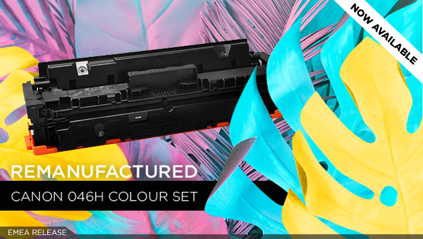 Clover's remanufactured Canon 046H colour toner solution is ready!