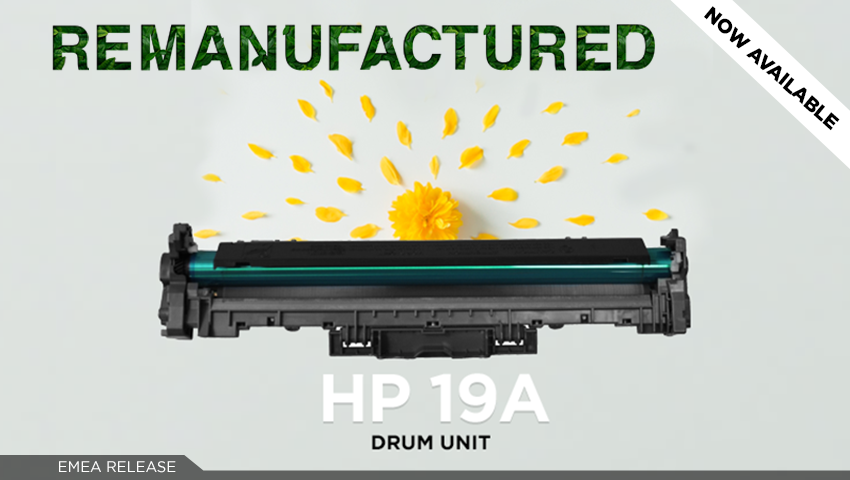 Looking for a true match? Clover's remanufactured HP 19A Drum Unit is released!