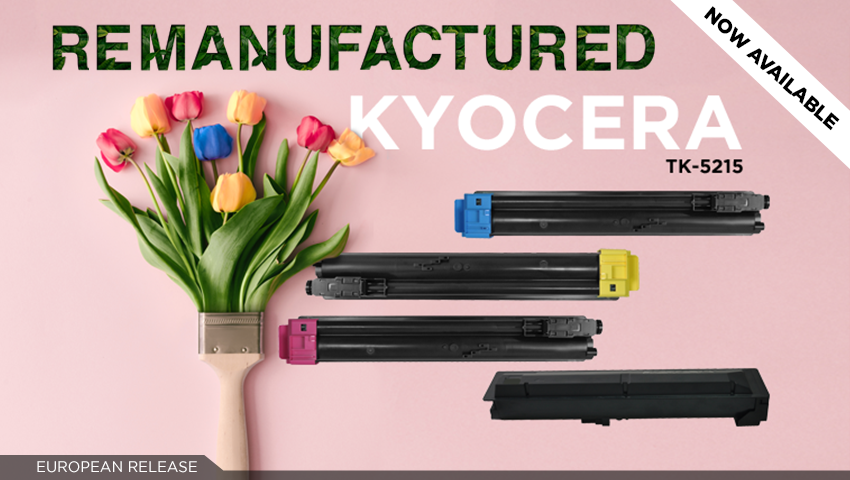 Make printing bright and colourful with Clover's remanufactured TK-5215 colour set!