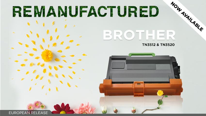 Clover gives new life as remanufactured Brother TN3512 and TN3520!
