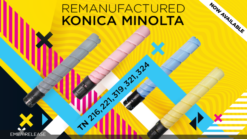 Konica Minolta MPS remanufactured range by Clover – TN-216, TN-221, TN-319, TN-321, TN-324!